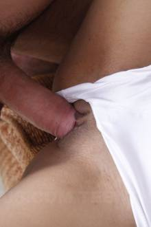 Sofie gets to taste a massive and genuine white cock